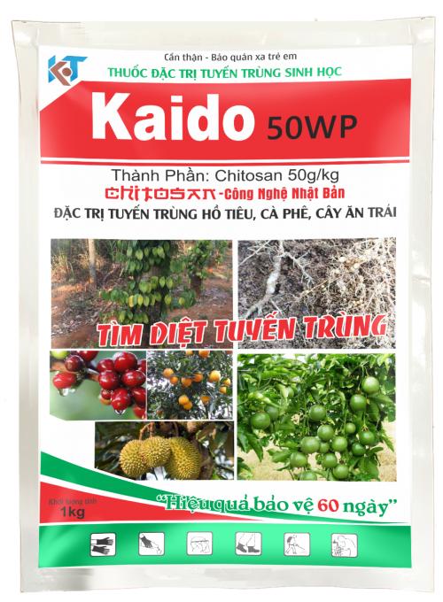 Thuốc đặc trị tuyến trùng tuyến trùng sinh học ứng dụng cho nông nghiệp sạch và nông nghiệp hữu cơ- KAIDO 50WP