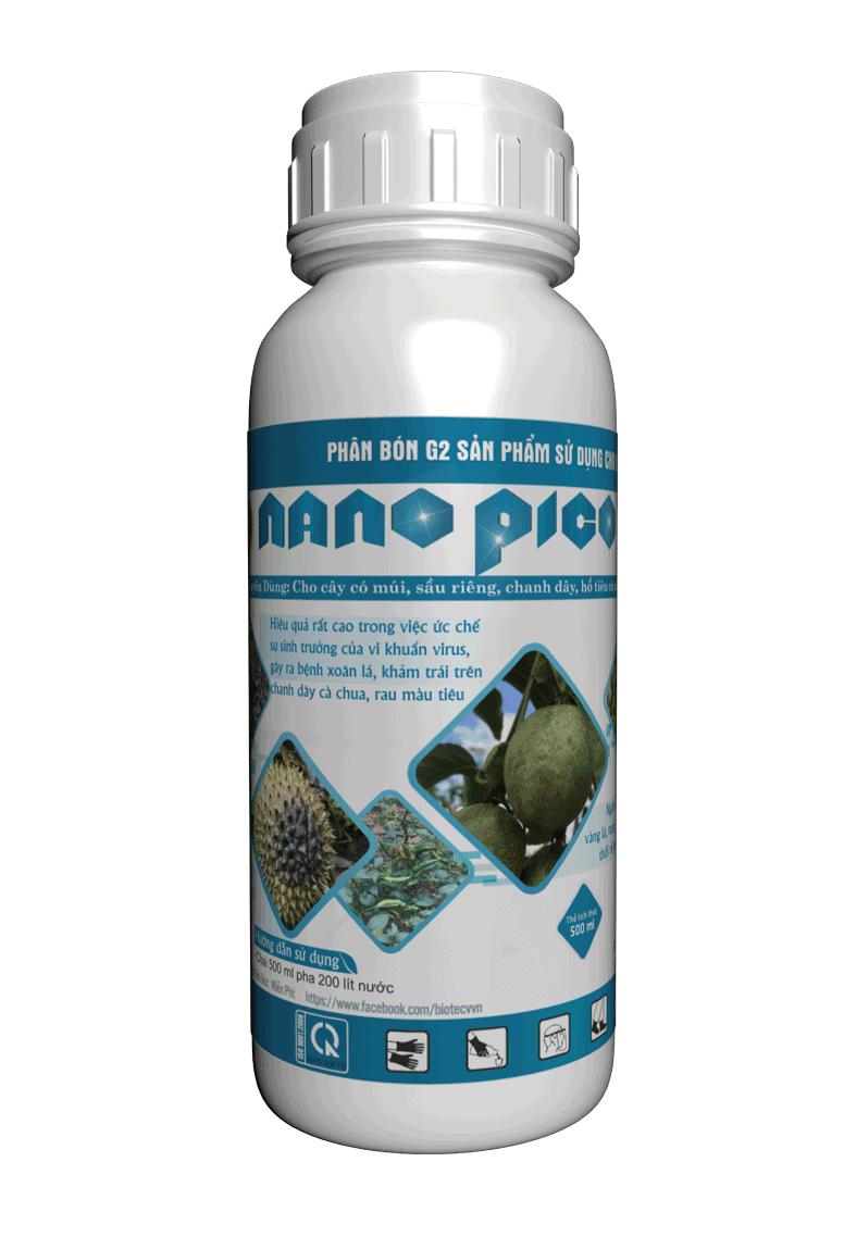 Thuốc đặc trị xoăn đọt, thụt đọt, ngăn ngừa vi rút, thân mặt dẫn - NANO PICO